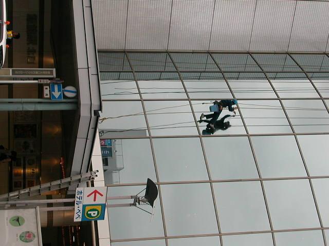 たまたま〜窓拭き