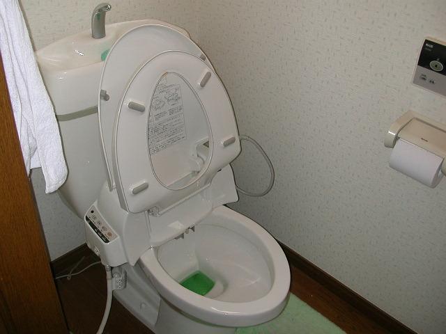2階のトイレ〜ハイター中〜