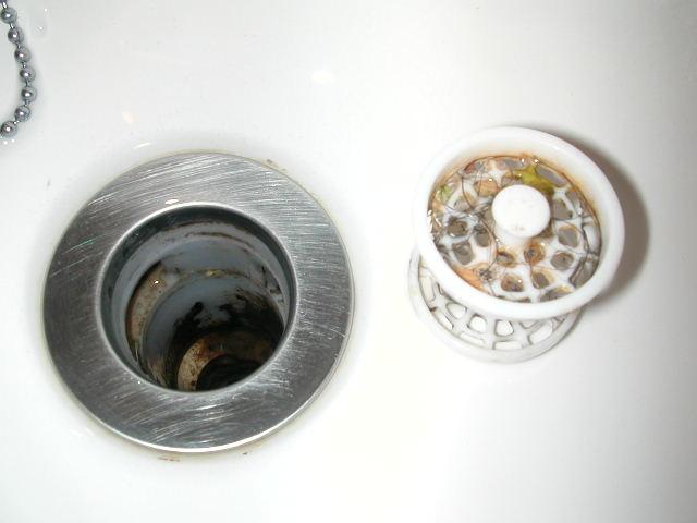 洗面台の排水溝〜