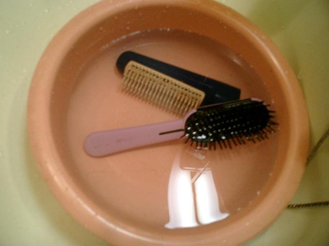 ブラシ洗浄