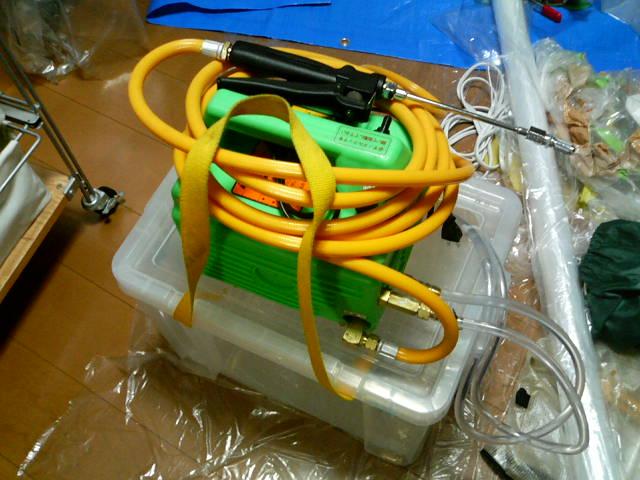 家庭用エアコンクリーニング高圧洗浄機