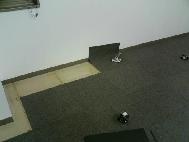 事務所のタイルカーペット張替