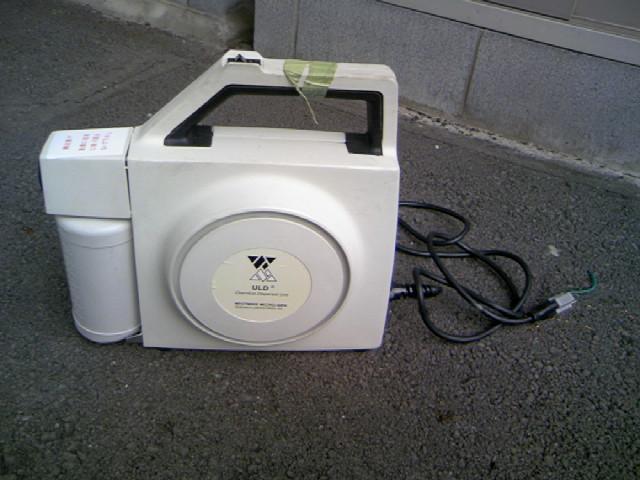 賃貸住宅の入居前の消毒処理に使うULV機