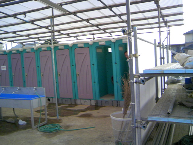 工事現場の仮設トイレ事情