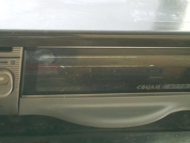 魚焼きグリルの窓(掃除中)