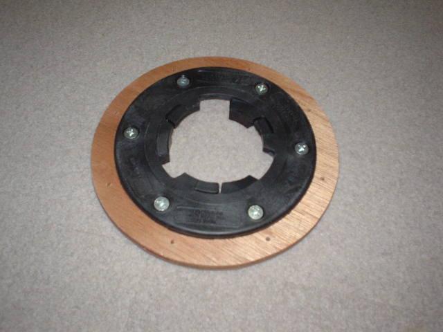 イノベーター用クラッチプレート+ベニヤ製ネジ穴変換プレート