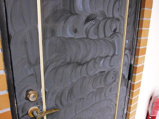 ドアに車のワックス