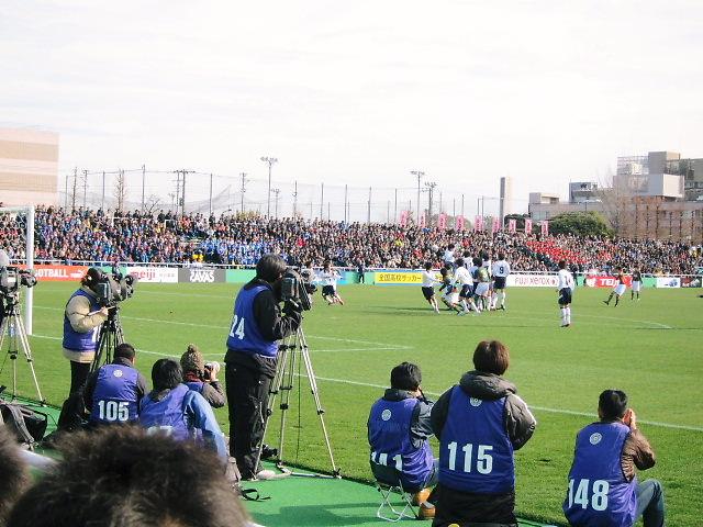 西が丘でサッカー観戦
