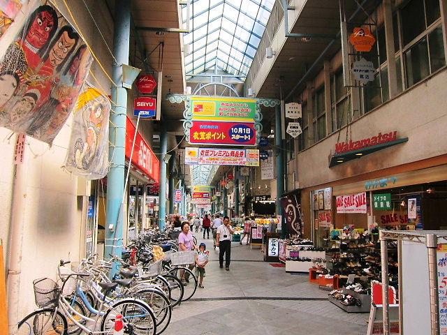 横須賀衣笠のアーケード商店街