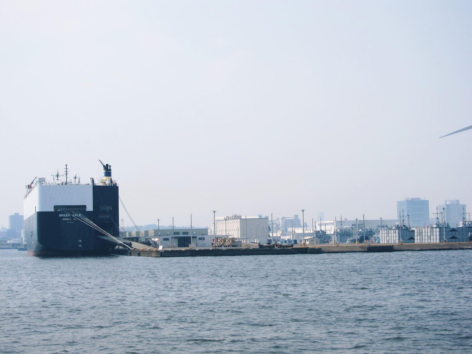 米軍の埠頭