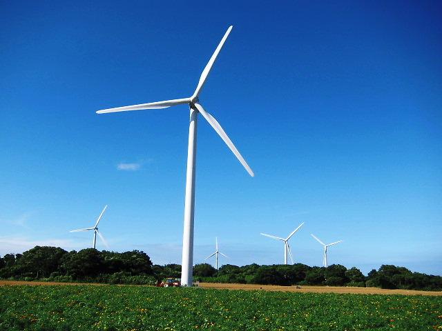 銚子は風力発電所の密集地