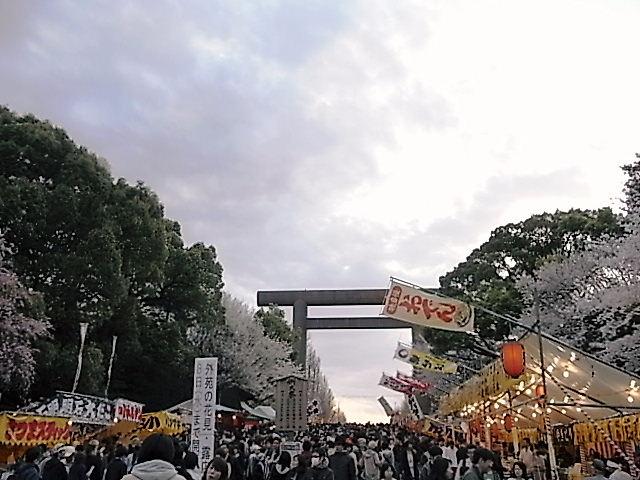 靖国神社の桜祭り