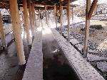 諏訪湖、湖畔の足湯場