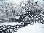 雪景色の伊香保にて